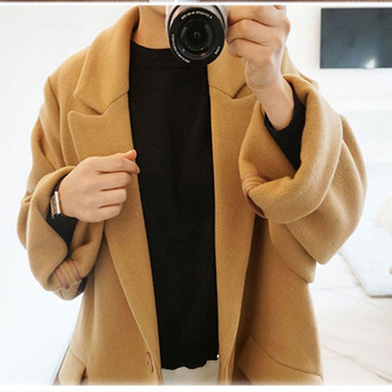 06bc2276da6 Women Wool Coats 2016 Winter Thick Cashmere Coat Women Beige Coat Trench Wool  Coats Women Plus Size Elegant Long Jacket Black-in Wool   Blends from  Women s ...