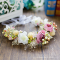 Hermoso Pelo de La Boda Accesorios Romántica Bohemia Hanfmade Alta Calidad Nupcial accesorios para el cabello de Flores de Tela A032