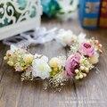 Linda Hanfmade Casamento Acessórios Para o Cabelo Boêmio Romântico Flor de Tecido acessórios para o cabelo de Noiva de Alta Qualidade A032