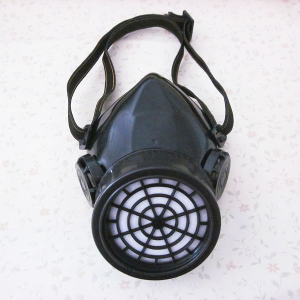 Black Cyber Respirator 1 Canister 1 Valve Rave Steampunk Cosplay Mask Industries Goth Punk Alternative Goggles