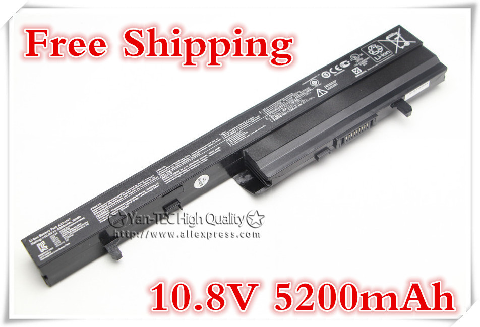 11.1V 5200mAh Laptop Battery for Asus A42-U47 U47 U47A U47C U47V U47VC A32-U47 Free shipping nokotion 760829 001 760149 501 for laptop motherboard hp 15 h 15 g series zs051 la a996p rev 1 0 am5200 cpu mainboard