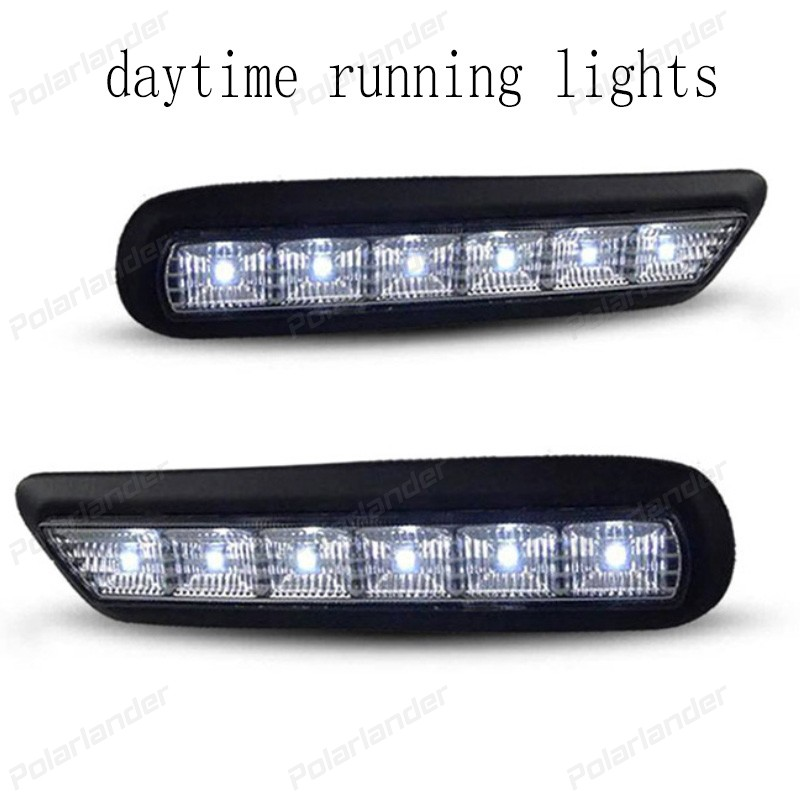 1 pair Car styling 12V 6000k LED DRL Daytime running light for M/itsubishi AXR 2010-2012 fog lamp frame Fog light dongzhen 1 pair daytime running light fit for volkswagen tiguan 2010 2011 2012 2013 led drl driving lamp bulb car styling