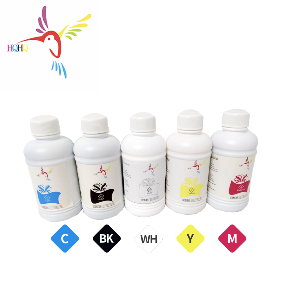 HQHQ 5x500ml DTG encre Pigmentée pour Epson L300 L800 L801 L805 L1800 T50 R290 4000 4800 7400 7600 7800 7880 imprimante