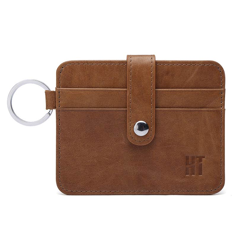 New Fashion Genuine Leather Women Purse Men Hautton Minimalist Slim Business Credit Id Card Case Brand Mcvilla