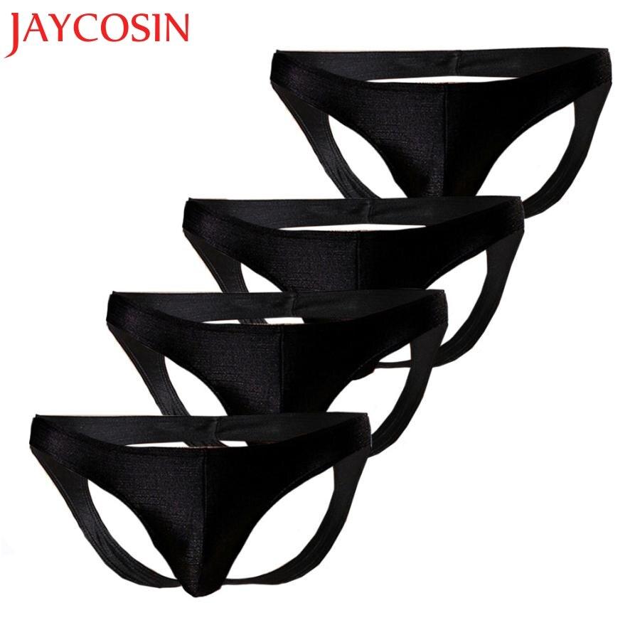 JAYCOSIN Fashion Men Underwear Brushed Light Stretch High Fork Briefs Sexy G-string Underwear Dropshipping Jun 14