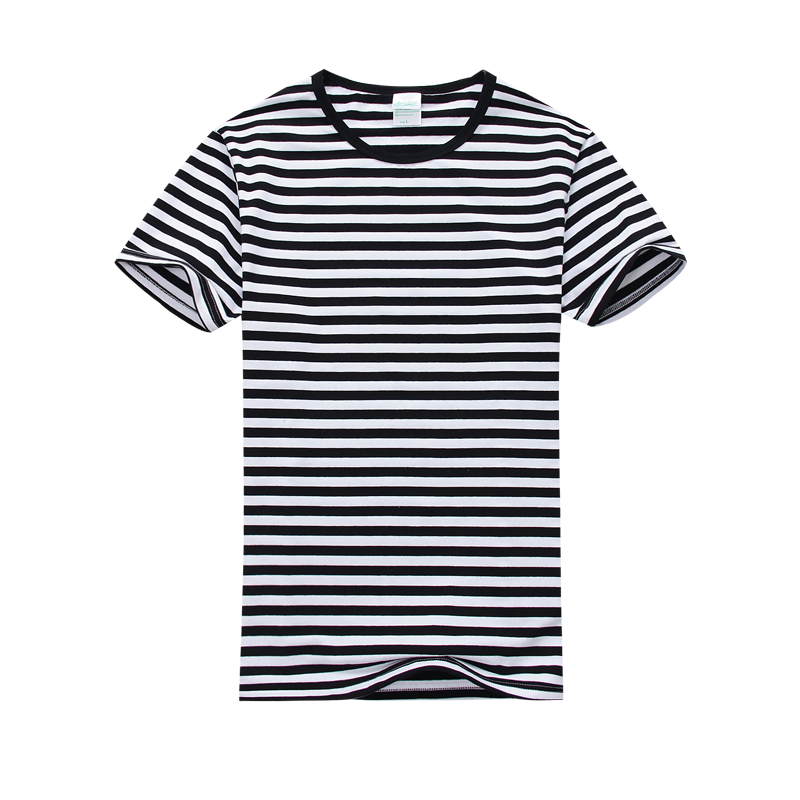 a849d27c90e Black Blue Red with White Striped T shirt Casual Blouse Men Clothing  Contrast Color Short Sleeve Vintage Cotton Rock Tee Shirt-in T-Shirts from  Men s ...