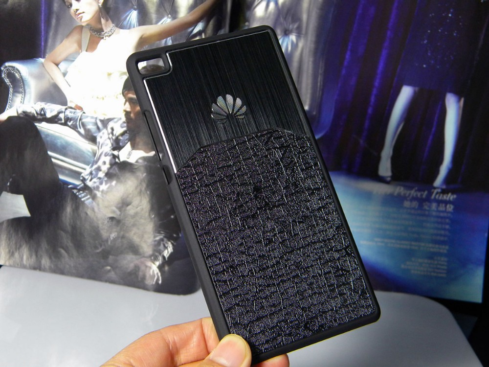 Dla huawei p8 lite case p9 lite plus honor 8 p9 pokrywy hybird Szczotkowanego aluminium Metal z Luksusowych Skóry materiał darmowa wysyłka 2