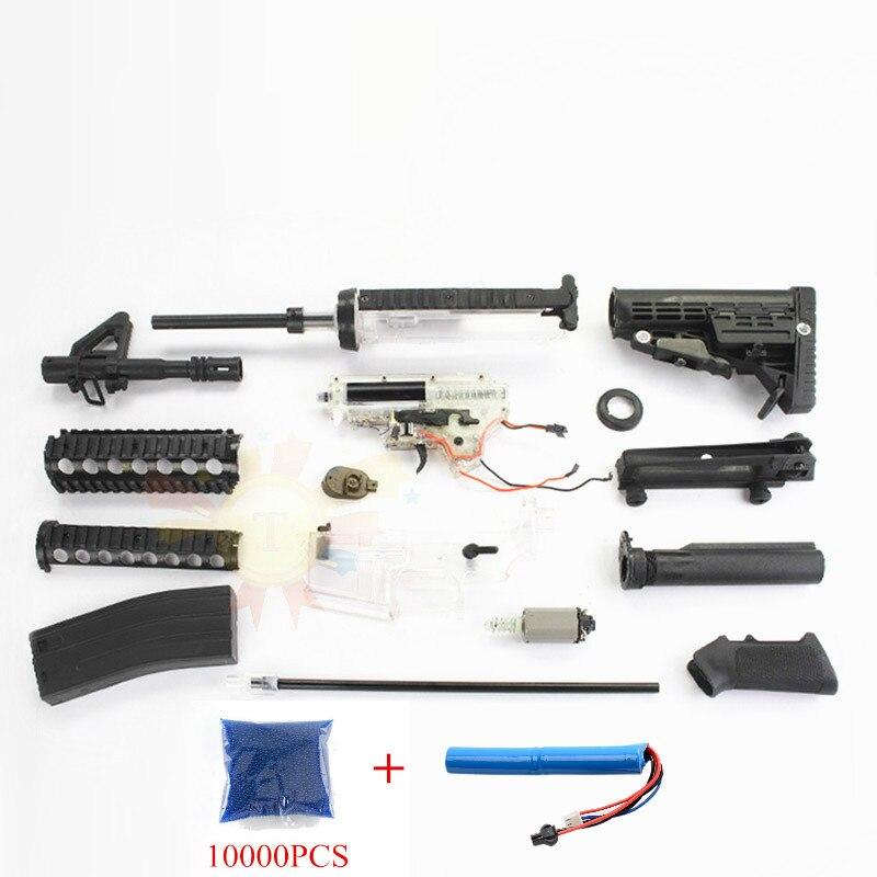 M4 eau rafale jouet Gel pistolet électrique pistolets à eau pour enfants passe-temps porte