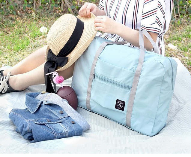 22b801d87960 Safe Waterproof Nylon Travel Bags Women Men Large Capacity Folding ...