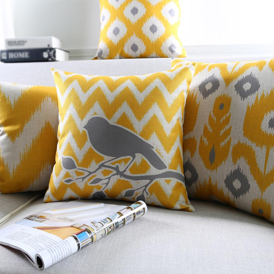 Free Shipping!Yellow abstract geometric square throw <font><b>pillow</b></font>/almofadas <font><b>case</b></font> 45 53 <font><b>30x50</b></font>,european modern cushion cover home decore image
