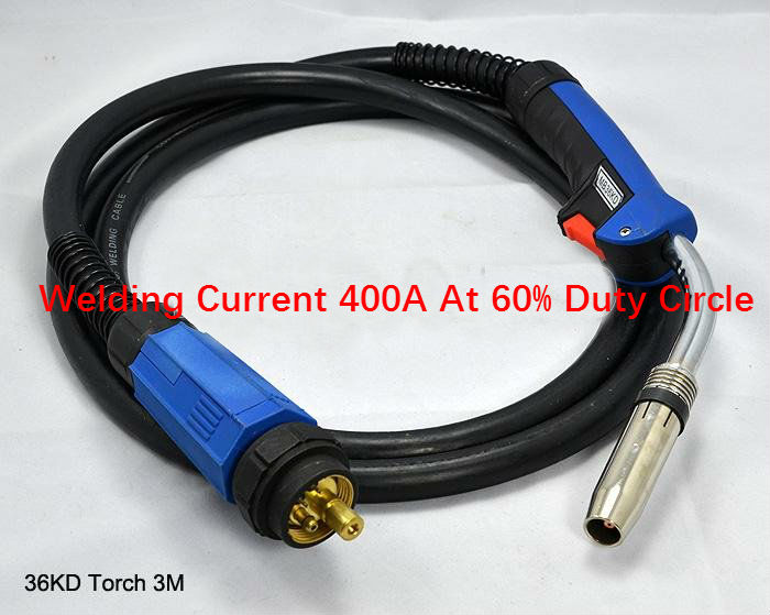 BINZEL STYLE 400A MB36KD (3-METERS) MIG WELDING TORCH / GUN 36KD MB36 MIG/MAG Welding Torch welding wires 1.0-1.6mm 3M