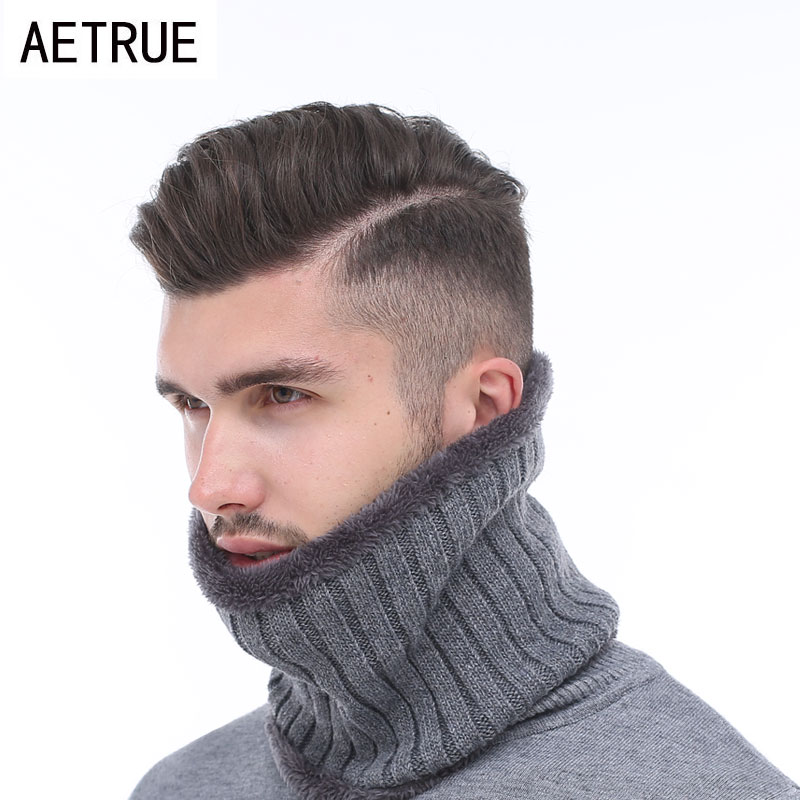 Ring Thich Neck Collar Winter Men Scarf Winter Scarves For Men Women Warp O Neck Snood Shawl Warm Fur Soft Male Winter Scarves