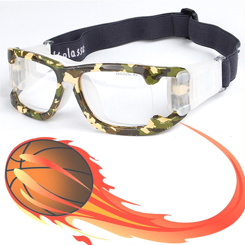 camo professional basketball glasses football sports glasses goggles eye glasses frame match optical lens for myopia