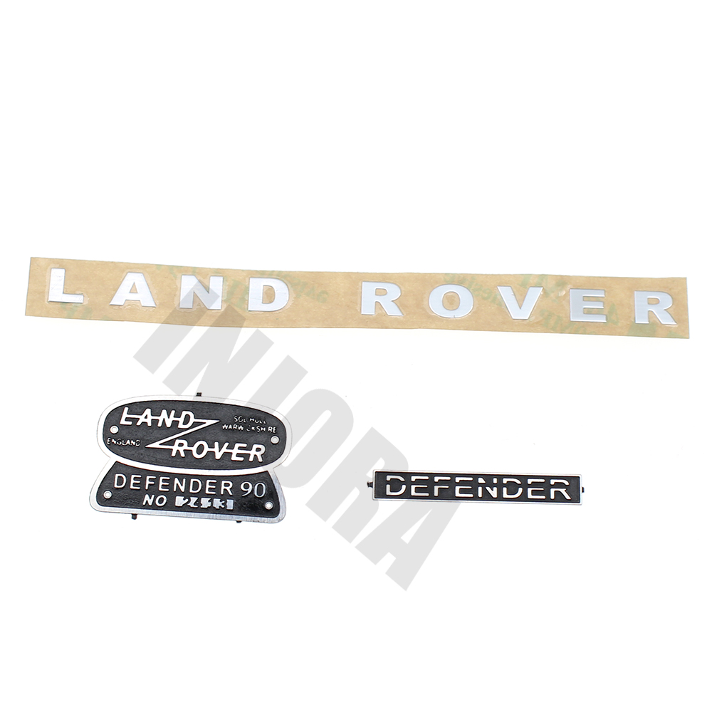 INJORA Land Rover Defender Metal Logo Brand Decoration Sticker for 1:10 RC Crawler RC4WD D90 D110 Traxxas TRX-4 Body Car Shell усилитель руля насос для land rover defender 07 ld90 15 внедорожник 2 4 td4 oem lr009817 новый
