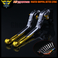 Gold+Titanium CNC Adjustable Folding Extendable Motorcycle Brake Clutch Levers For SUZUKI GSR600 2006 2007 2008 2009 2010 2011