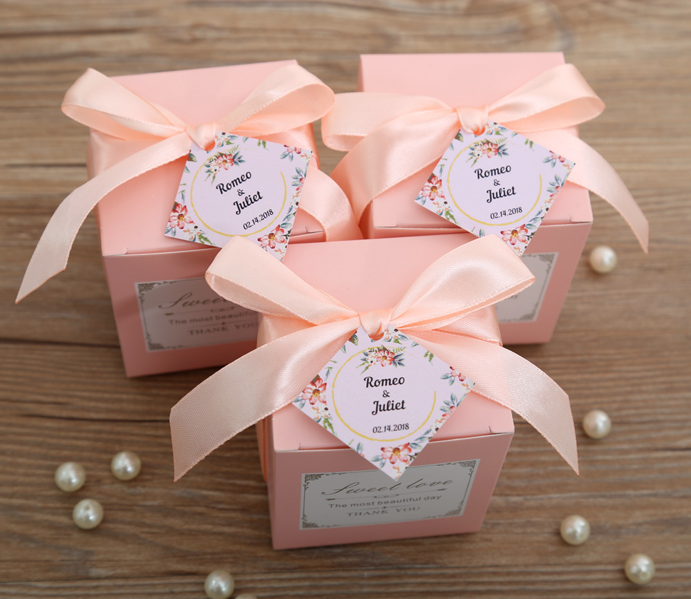 50 pcs Free Shipping Pink/ Tiffany Blue Birthday Wedding Favor Candy ...