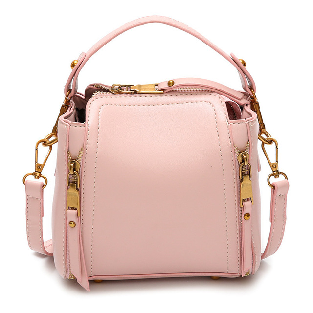 Candy Colors Bucket Portable Bags Female 2018 Korean Version Wild Chain  Square Pu Pumping Belt Shoulder b6326ae9ee994
