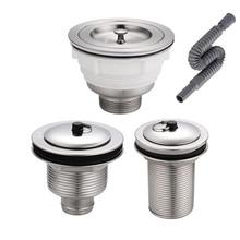 Kitchen Stainless Steel Sink Drain Filter Water Deodorant Drain Pipe Mop Pool Sink Strainer Sewer Bathroom Accessories