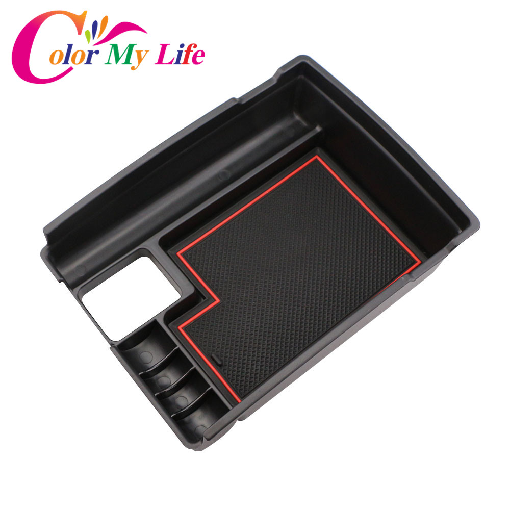 Color My Life Central Storage Armrest Container Box for Nissan X-trail X Trail XTrail T32 Rogue 2014 2015 2016 2017 2018 P