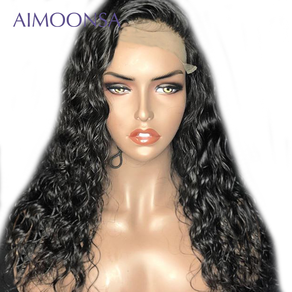 Water Wave Transparent Lace Front Wig 360 Lace Wig Ponytail Human Hair With Baby Hair Raw