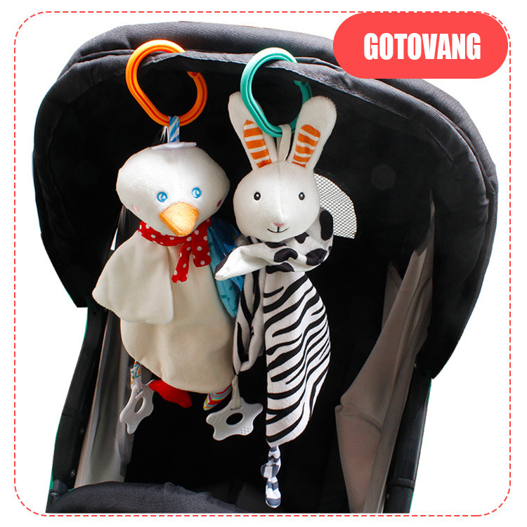 Baby Toys Soft Appease Towel Plush Stroller Toys For Newborns Mobile Soothe Towel