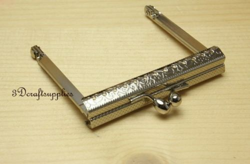 metal frame sewing bag purse frame Wallet frame 7 cm silver B72