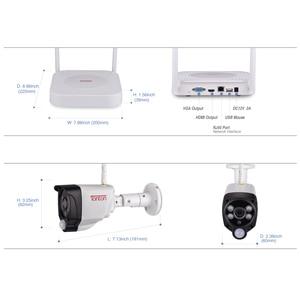 Image 4 - Tonton 1080P 무선 보안 카메라 2 테라바이트 HDD 2MP 4CH NVR 카메라 IR CUT 야외 CCTV 카메라 IP 보안 비디오 감시 키트