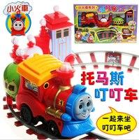 1 conjunto thomas train toys trem trilho elétrico thomas & friends Mini Trem Elétrico de Brinquedo Conjunto de Pista para Crianças com Caixa de Varejo