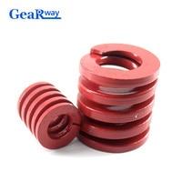 Gearway красная компрессионная пружина Средняя загрузка прессформы пружина TM50x50/50x55/50x60/50x70/50x75 мм прессформа штамповочная пружина