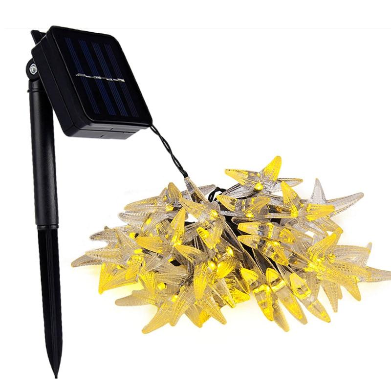 30 LEDs Starfish Solar LED Decorative Lamps String Light for Christmas Festival Solar Lamp for Outdoor Lighting Decoration