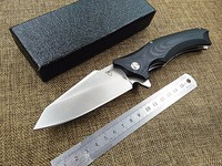 New Outdoor Camping Hunting Folding Knife 9cr18mov Blade G10 Handle Tactical Survival Pocket Knife Ball Bearing