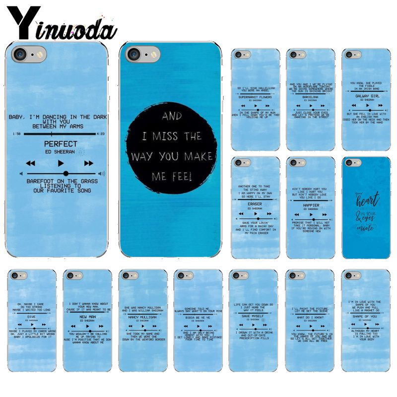 US $0 74 32% OFF Yinuoda Ed Sheeran Lyrics Pictures TPU Soft Silicone  Transparent Phone Case for iPhone X XS MAX 6 6S 7 7plus 8 8Plus 5 5S XR-in