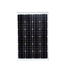 New Solar Panel Kit 60W Watt 12V Mono Placa Solar 12v Cheap China Camping Kit