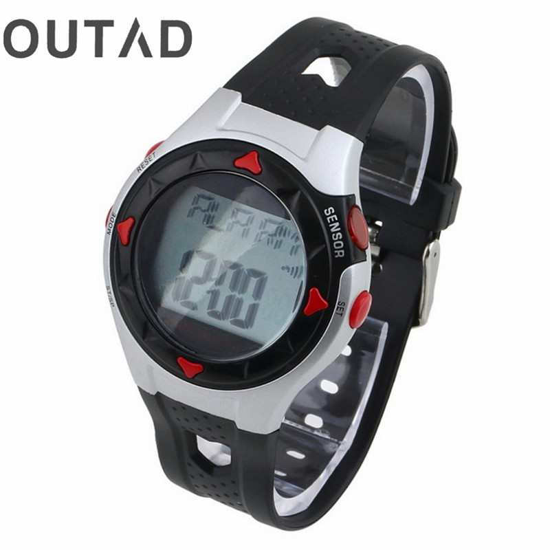 OUTAD Relogio 1pcs Outdoor Led Watch Cycling Monitor Wrist Watch Calorie Waterproof Pulse Heart Rate Counter Sport Exercise