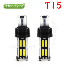 2 PCS T15 W16W Car LED Back-up Light Auto Reverse Lamp Bulb Bright High Power Canbus 22 SMD 7020 car Brake Turn signal  цены