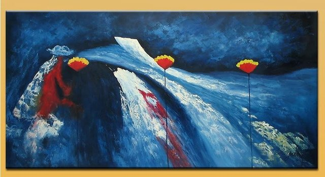 oil painting on canvas modern abstract 100% handmade original directly from artist YP6 Art handmade abstract