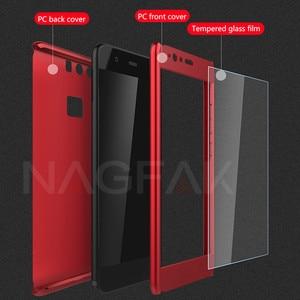 Image 3 - Роскошный 360 градусов Защита Полный чехол для телефона для huawei P10 P9 P8 Lite противоударный чехол honor 9 9 Lite 8 чехол стекло