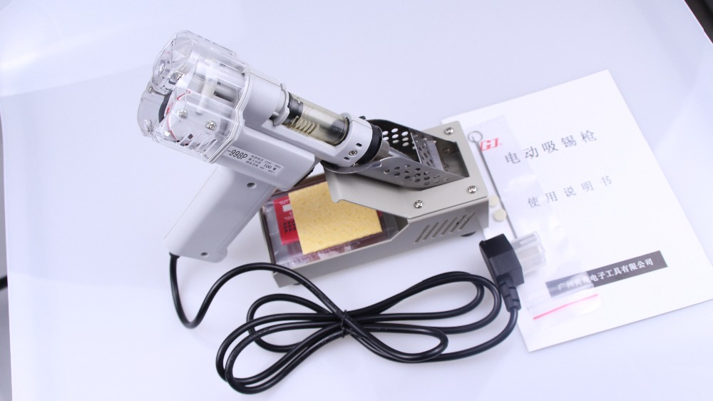 Free shipping soldering iron Double-Pump Soldering IronS-998P 220V Electric Desoldering Gun Vacuum Pump Solder Sucker machine  цены