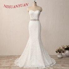 NIXUANYUAN New Elegant White Ivory Lace Bridal Gown Mermaid