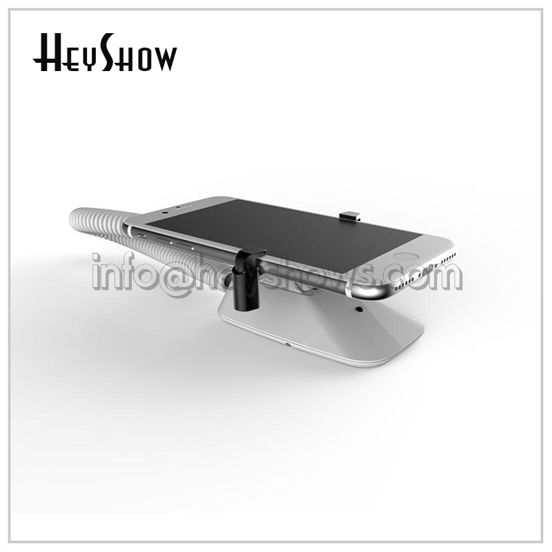 Mobile Phone Security Stand For Cell Phone Anti Theft Display Holder Iphone Alarm System With Clamp Mount On Wall Or Desk Thin