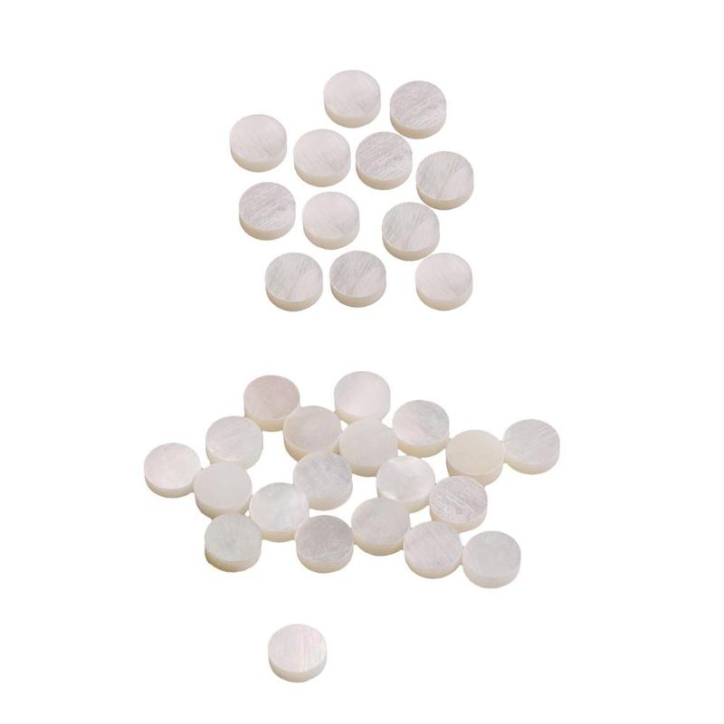 Candid 12pcs/20pcs Guitar Fingerboard Inlay Dots Fingerboard 6mm White Pearl Shell For Guitars Ukuleles Mandolins Accessories Musical Instruments