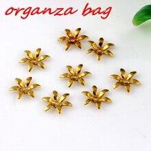 цена на Hot !  200pcs New 6 leaves Brass Beads cap 8 mm Jewelry DIY free shipping (za162)