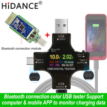 USB tester wireless Bluetooth DC voltmeter current voltage USB-C PD meter volt amp ammeter detector power bank charger indicator недорого