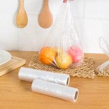 1roll Food grade PE Point breaking vest type food preservation bag fresh-keeping storage