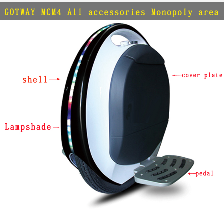 Gotway MCM4 Electric Unicycle Original Accessories,Shell,motherboar,Controller,handle Bar,Lampshade,upright Column,Charger