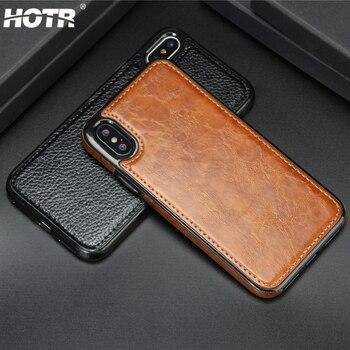 2146a6b8f71 Funda de cuero de absorción para iphone XS Max XR XS X soporte magnético  para coche funda para iphone 5s 6 6s Plus 7 7 8 8 Plus