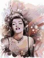 MaHuaf X1020 DIY Oil Painting By Numbers Marilyn Monroe Acrylic Picture Wall Art Drawing By Numbers