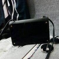 Novo estilo Coreano moda feminina espelho personalidade pequena bolsa simples feminino bolsa de ombro único saco de mini pacotes de telefonia móvel