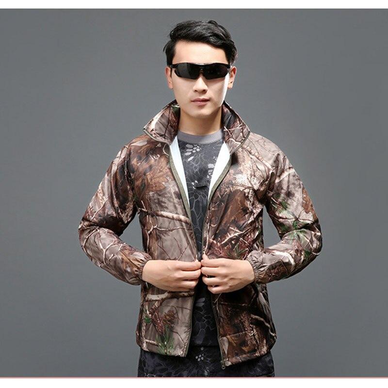 Мужские тактические куртки, летние дышащие камуфляжные куртки с защитой от УФ лучей для кемпинга и охоты