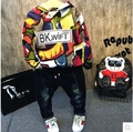 2016 Hitz boys stylish hooded long sleeved sweater fashion handsome all-match paragraph free shipping